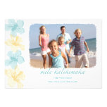 Beach Hawaiian Lei Christmas photo Cards Personalised Invite
