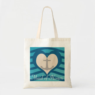 Beach Heart & Anchor Maid of Honor Tote