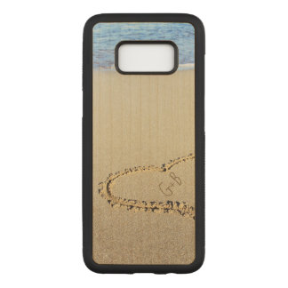 Beach Heart Monogram Personalized Carved Samsung Galaxy S8 Case