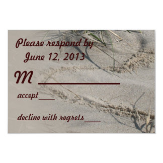 Beach Heart RSVP Card