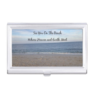 Beach Heaven Business Card Holder