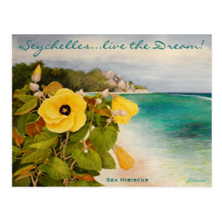 Beach Hibicus Postcard
