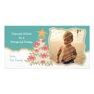 Beach Holiday Christmas Tree Photo Cards