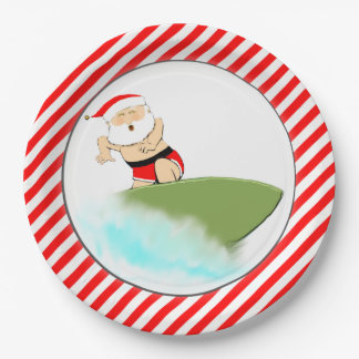 beach holiday party paper plate