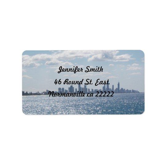 Beach Horizon  Self Addressed  Label