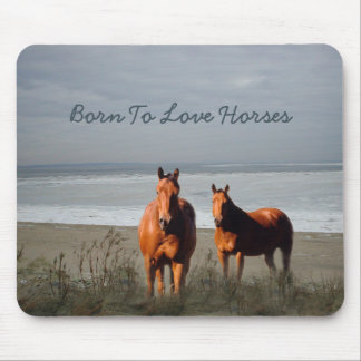 Beach Horses Mousepad