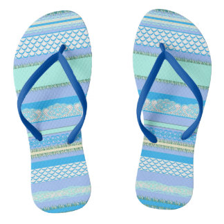 Beach House Blue surf Thongs