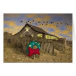 Beach House Christmas Card-H