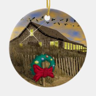 Beach House Christmas Ornament