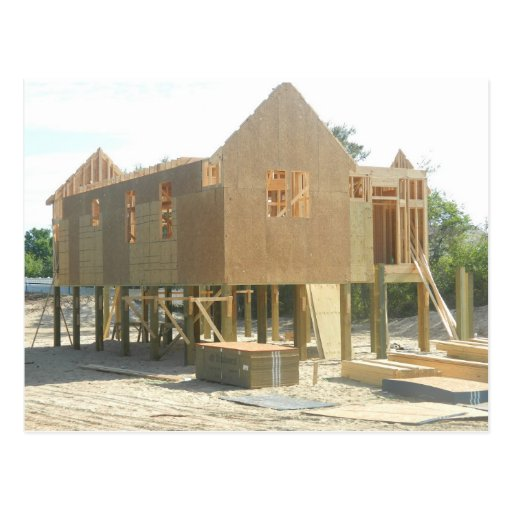Beach House Construction Postcards