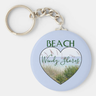 Beach House Heart Destin Florida Key Ring