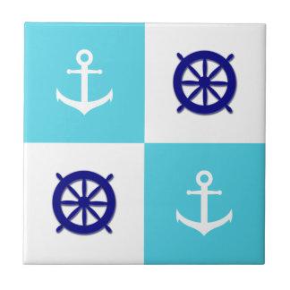 Beach House Nautical Anchor Tile