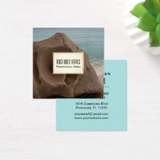 Beach House Rentals Tropical Seashell Square Business Card