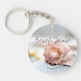 Beach House Seashell Keychain