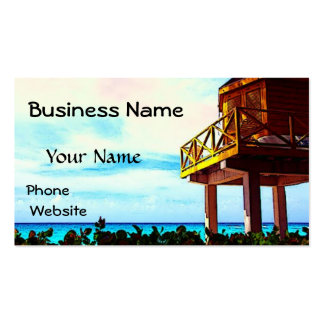 Beach House with Ocean View Pack Of Standard Business Cards