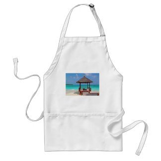beach hut tropical paradise peace relax remote adult apron