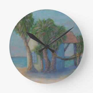 BEACH HUT Wall Clock