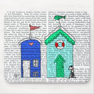 Beach Huts 2 Illustration Mouse Pad