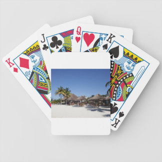 Beach huts bicycle playing cards