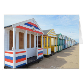 Beach Huts In Eastern England Card