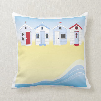 Beach Huts Pillow
