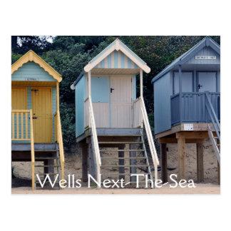 Beach Huts, Wells-next-the-Sea Postcard