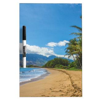 Beach in Hawaii Dry Erase Board