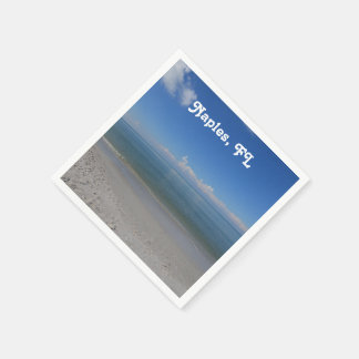 Beach in Naples Paper Napkin