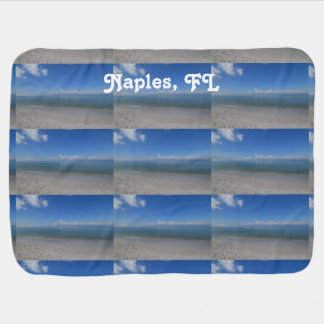 Beach in Naples Swaddle Blankets