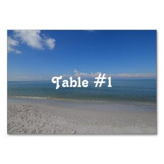 Beach in Naples Table Card