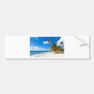 Beach in Saona Dominican Republic Bumper Sticker