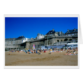 Beach in St Malo, France Card