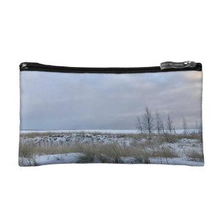 Beach in Winter Cosmetic Bag