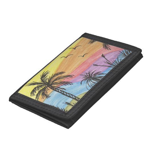 Beach Inspiration Tri-fold Wallet
