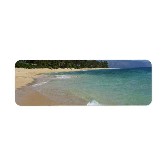 Beach Island Return Address Label