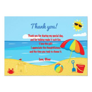 Beach Kids Thank You Card