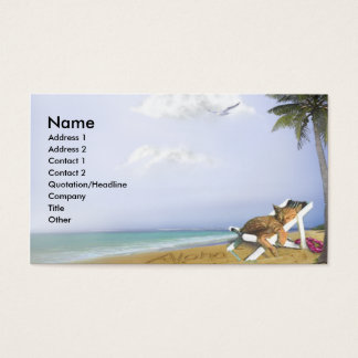 Beach Kitty Business Card