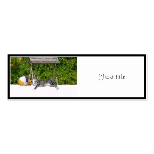 Beach Kitty on White Sands Business Cards