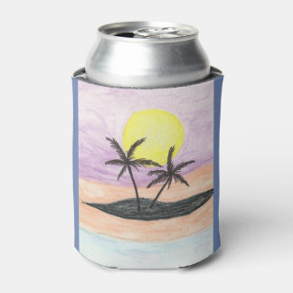 Beach Landscape Can Cooler