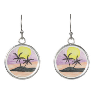 Beach Landscape Earrings