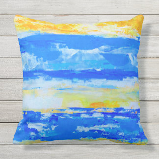 Beach Landscape Outdoor Pillow