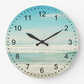 Beach Large Clock
