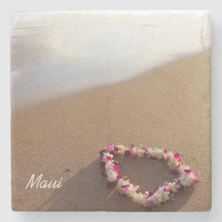 Beach & Lei Stone Coaster