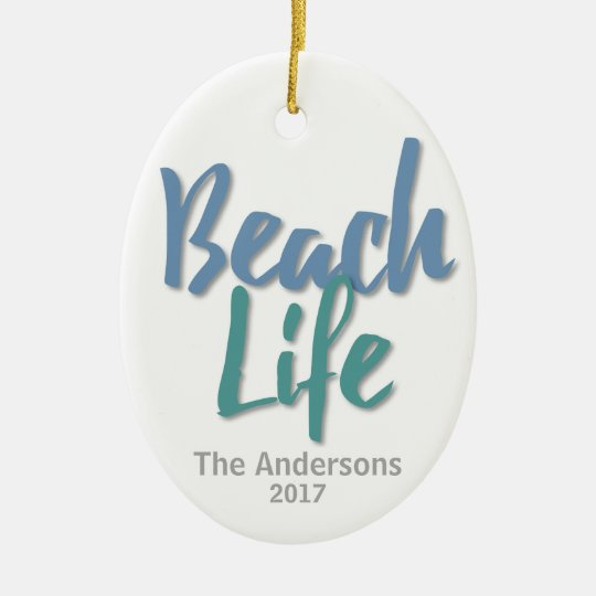 Beach Life Ceramic Oval Decoration