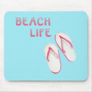 Beach Life Flip Flops Mouse Pad