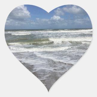 Beach Life Heart Sticker