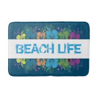 Beach Life Hibiscus Pattern Bath Mats