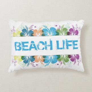 Beach Life Hibiscus Pattern Decorative Cushion