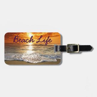 Beach Life Luggage Tag