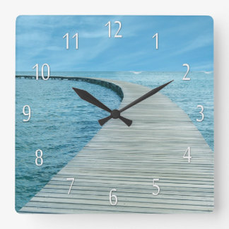 Beach Life Ocean Views Wall Clock
